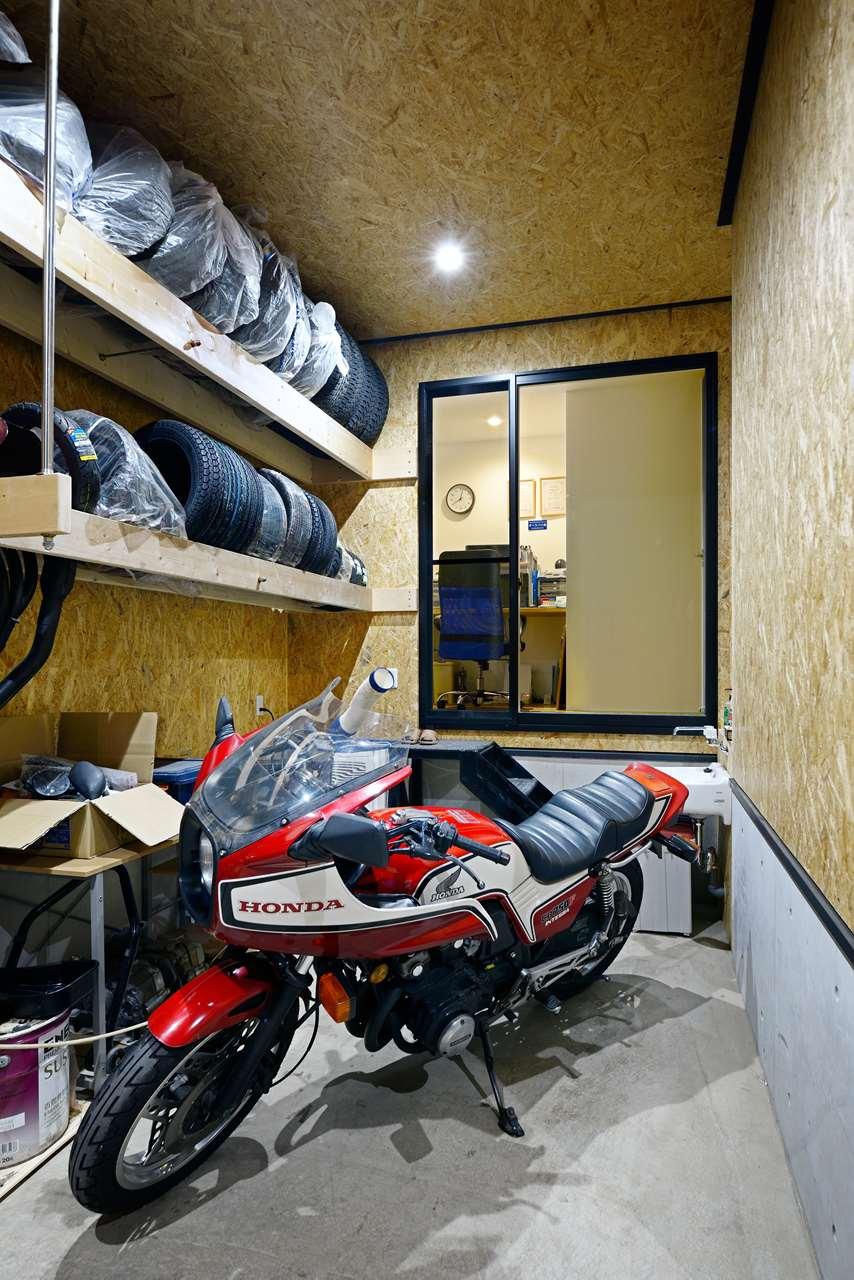 龍ヶ崎市の新築一戸建てのガレージ