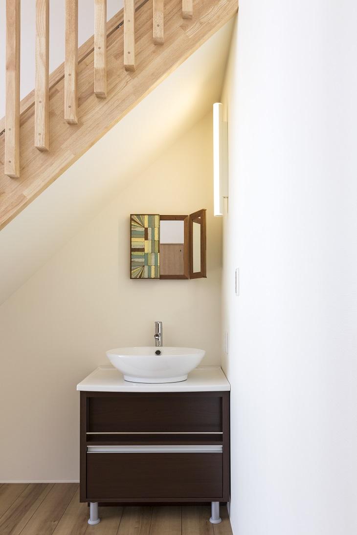 龍ヶ崎市の新築一戸建ての独立洗面台