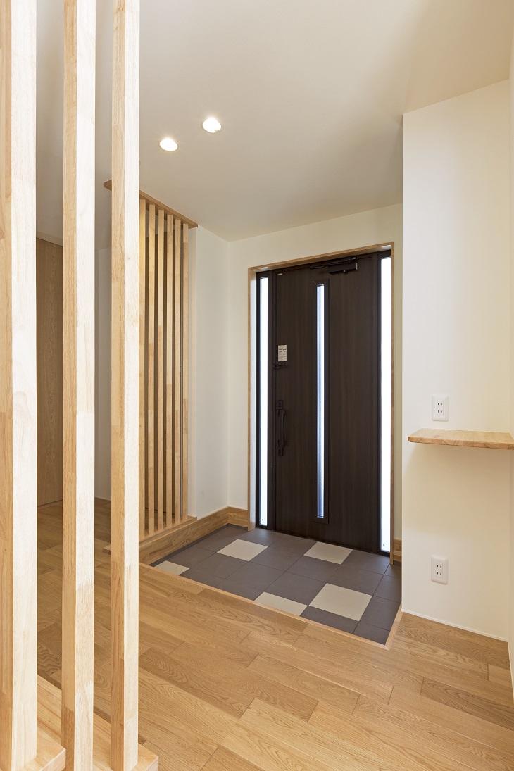 龍ヶ崎市の新築一戸建ての玄関