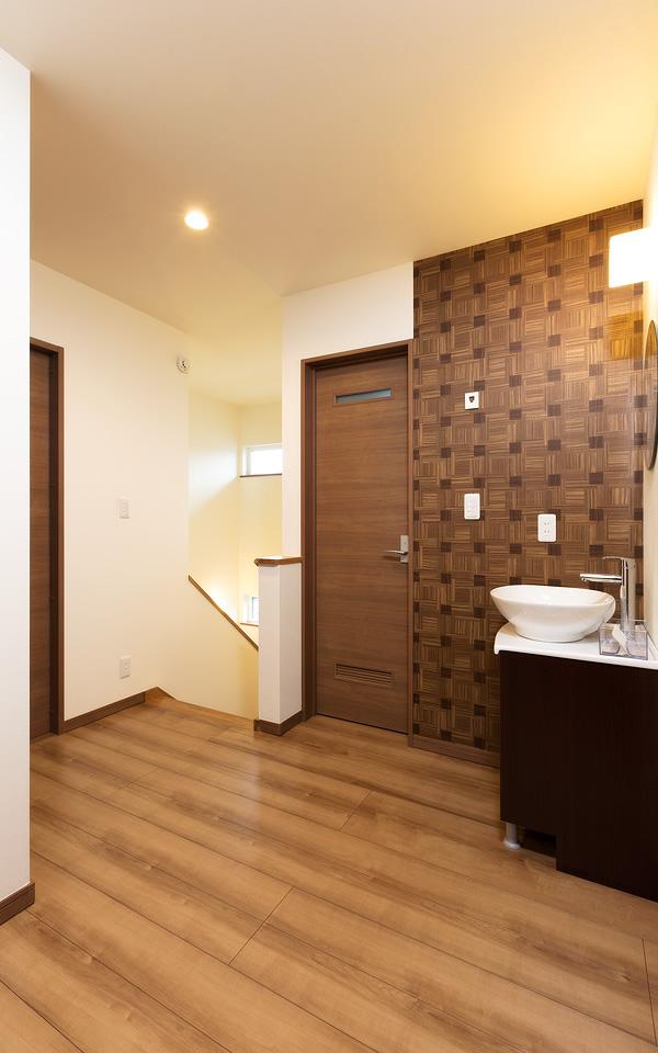 笠間市の新築一戸建ての洗面台