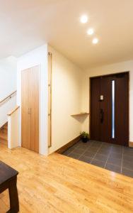 笠間市の新築一戸建ての玄関