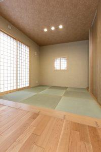 つくば市の桜の見える新築一戸建ての和室