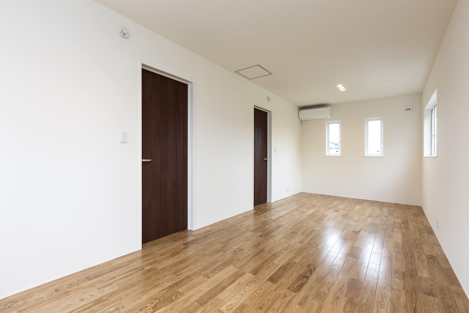 つくば市の桜の見える新築一戸建ての寝室