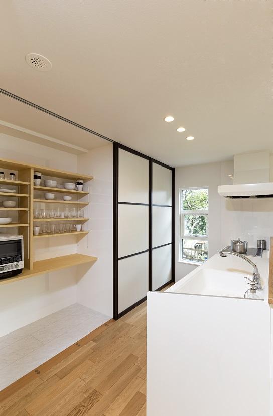 常総市の新築一戸建ての食器棚