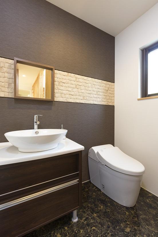 常総市の新築一戸建てのトイレ