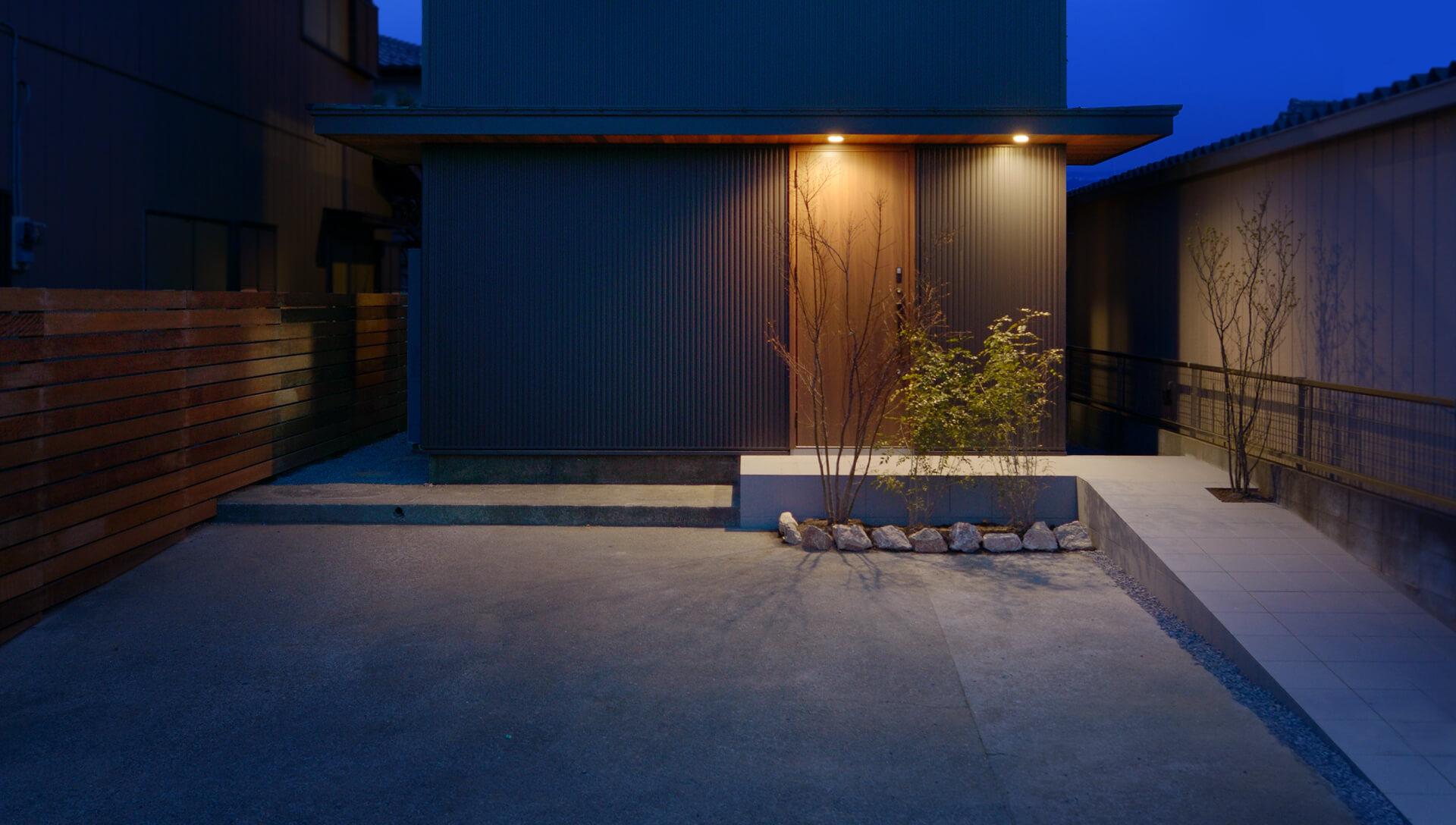 つくばみらい市でのリノベーション住宅の夜