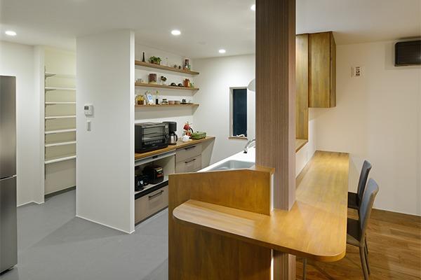 つくばみらい市のリノベーション住宅のキッチン