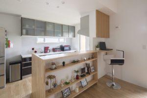 牛久市の新築一戸建てのキッチンカウンター