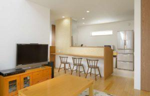 守谷市の新築一戸建ての対面式キッチン