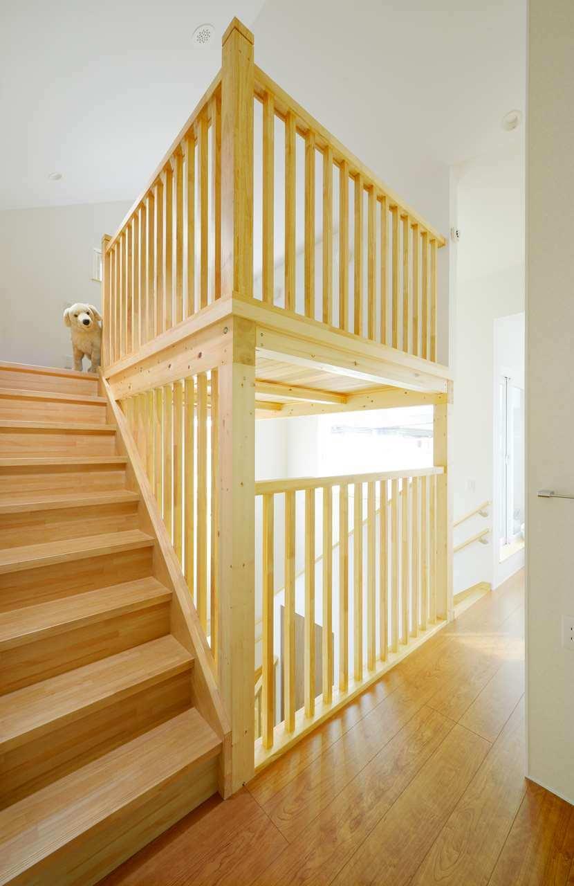 守谷市の新築一戸建ての階段