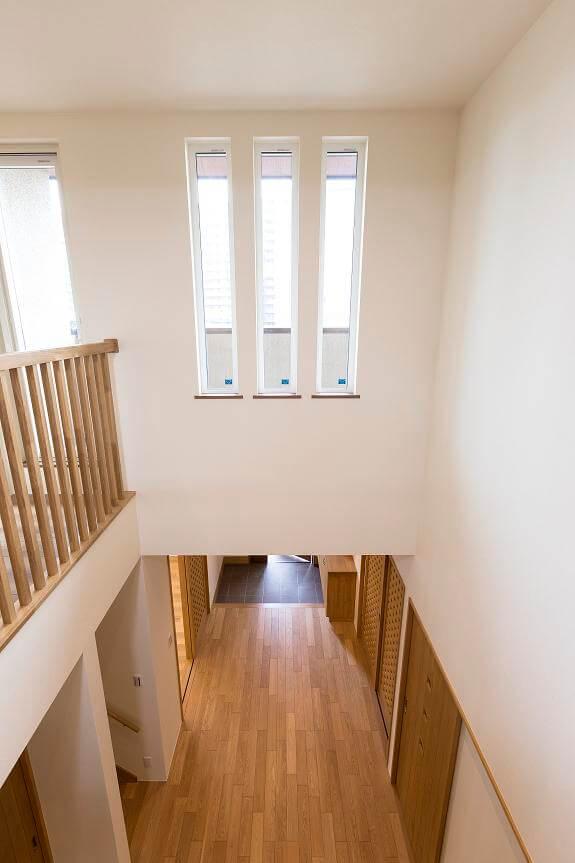 つくば市でデザイン性の高い家の階段