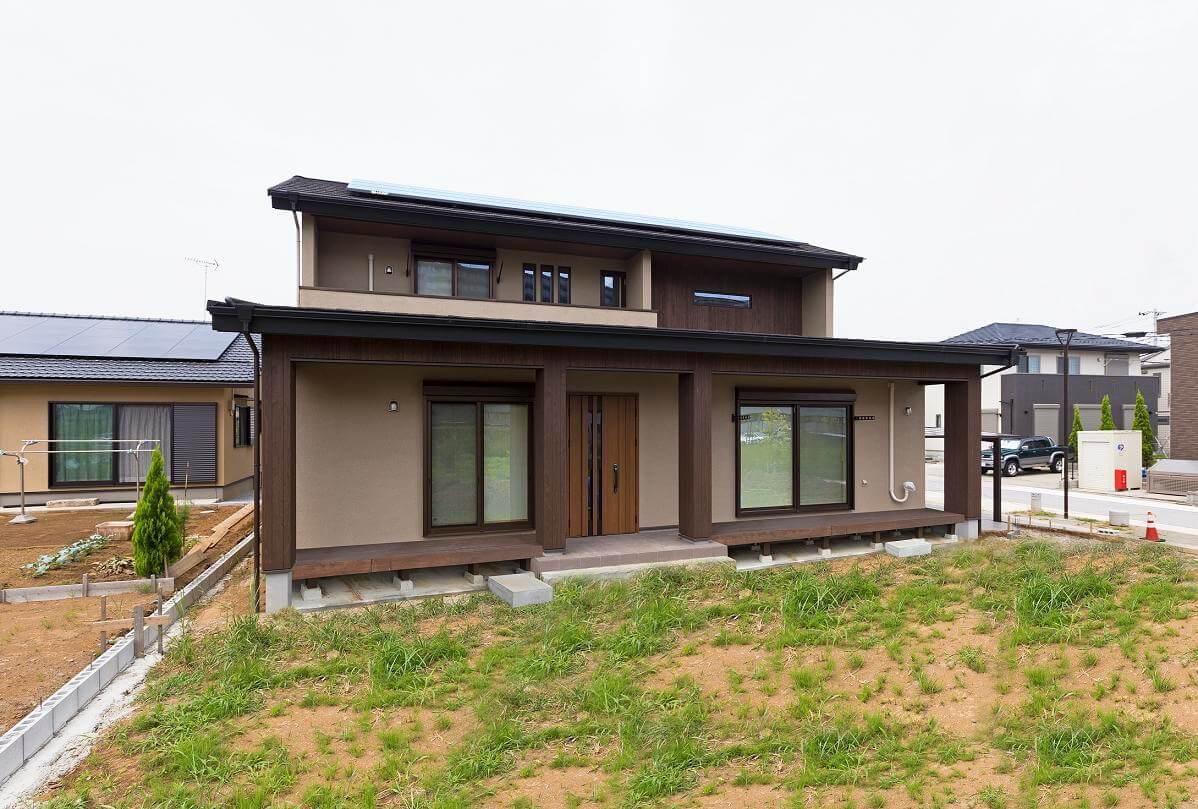 つくば市でデザイン性の高い家の外観