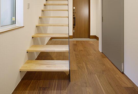 つくばみらい市のモデルハウス(リノベーション)の階段